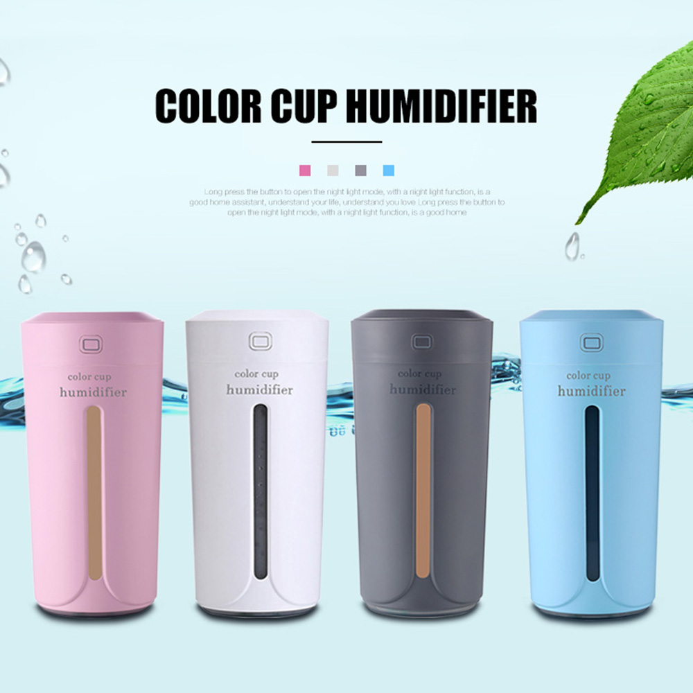 Portable Auto Car Air Humidifier Diffuser essential oil With 7 Color LED Light Electric Aromatherapy USB for Car Oil Purifier image
