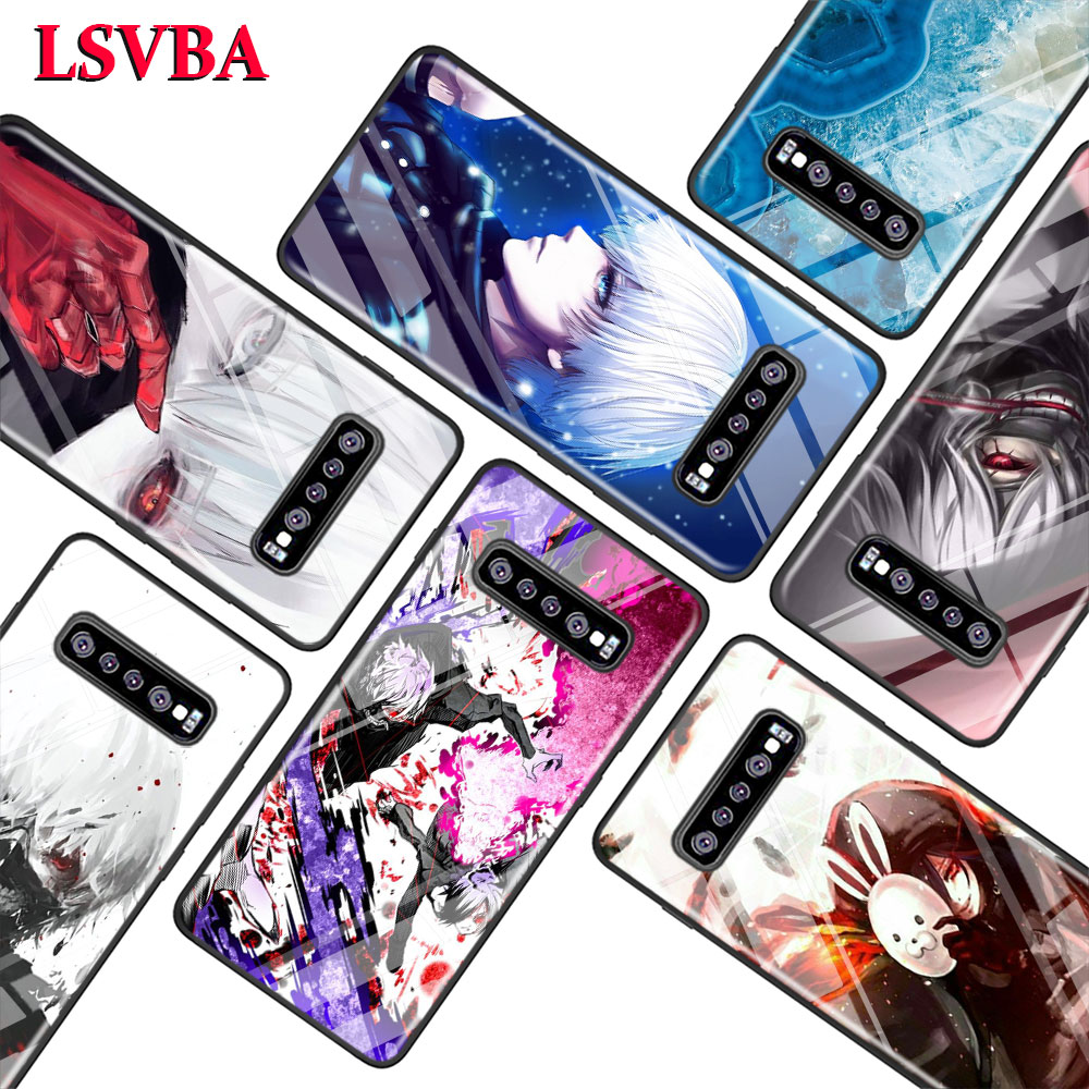 Tokyo Ghoul for Samsung Galaxy Note 10 9 8 Pro S10e S10 5G S9 S8 S7 Plus Super Bright Glossy Phone Case Cover in Fitted Cases from Cellphones Telecommunications