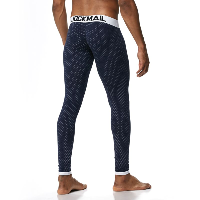 JOCKMAIL Men Cotton Soft Comfortable Long Johns Stretch Termica Homem Pants Line Warm Thermal Underwear Bottoming Trousers