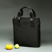 New 2020 High end Quality Businessman Briefcase Soft Black Canvas Men Handbags Spill & Wrinkle Resistant Shoulder Bags (XW1105)