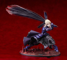 18cm Japan Anime Fate Stay Night Black Saber Alter Vodigan Ver with face guard Hammer Sword Cartoon Action Figure PVC Model Toys