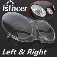 2 pièces clair droite/gauche boîtier de voiture phare lentille phare lentille coque couvercle lampe assemblée pour Mercedes/Benz classe E W211 02-08
