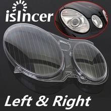 2PCS Clear Right/Left Car Housing Headlight Lens Headlamp Lense Shell Cover Lamp Assembly For Mercedes/Benz E CLASS W211 02 08