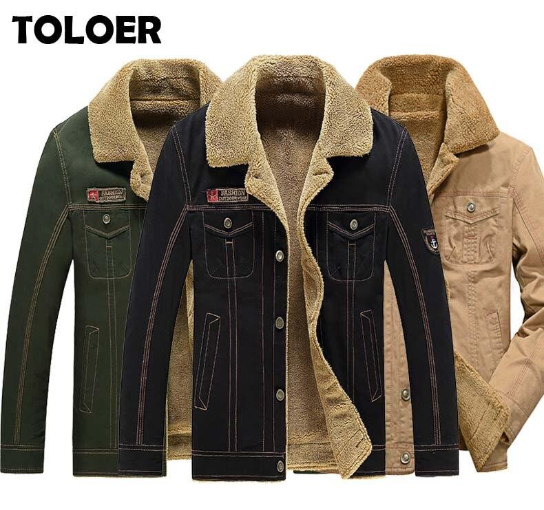 Новинка 2020, мужская зимняя куртка, пальто, мужские джинсовые куртки, модная качественная Толстая теплая флисовая подкладка, военная верхняя одежда, пальто, Прямая поставка Куртки      АлиЭкспресс