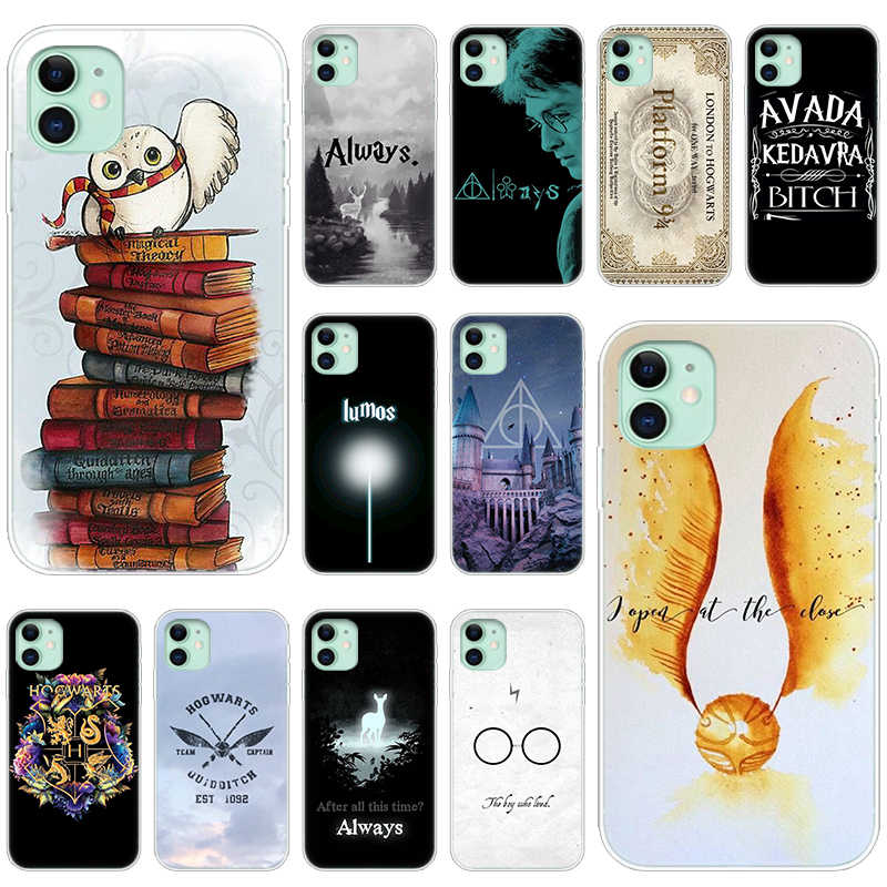 Harries Potter Silicone Phone Case for Apple iPhone 12 Mini 11 Pro XS Max X XR 6 6S 7 8 Plus 5 5S SE 2020 luxury Soft Cover