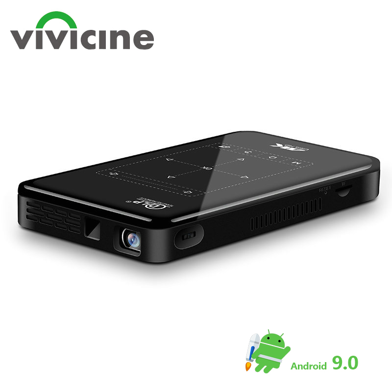 Vivicine P09Ⅱ Android 9.0 Upgraded Support 4K Mini Projector,support miracast airplay Movie Proyector Beamer with battery image