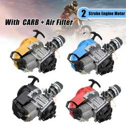 49cc 2 Stroke Motocycle Complete Engine Motor Carburetor With Air Filter CARB Pocket Bike Mini Dirt ATV Quad