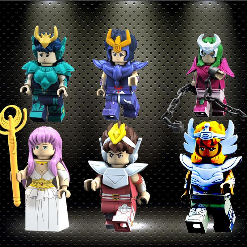 Legoelys Saint Seiya Super Heroes Knights Of The Zodiac Athena Shiryu Glacier Tutankhamu Building Blocks Children Toys PG8128