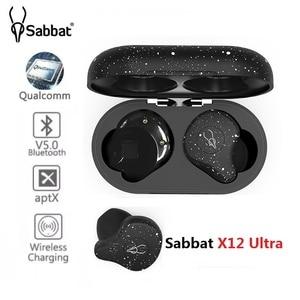 Image 1 - Sabbat X12 Ultra Qualcomm TWS Wireless Bluetooth 5.0 Earphone Sports HiFi Stereo Earbuds Support wireless charger earphones