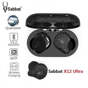 Image 1 - Sabbat X12 Ultra Qualcomm TWS Wireless Bluetooth 5.0 auricolare sport HiFi auricolari Stereo supporto caricabatterie wireless auricolari