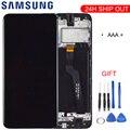 Оригинальное качество для samsung Galaxy A10 A105 A105F SM-A105F ЖК-дисплей с сенсорным экраном дигитайзер с рамкой