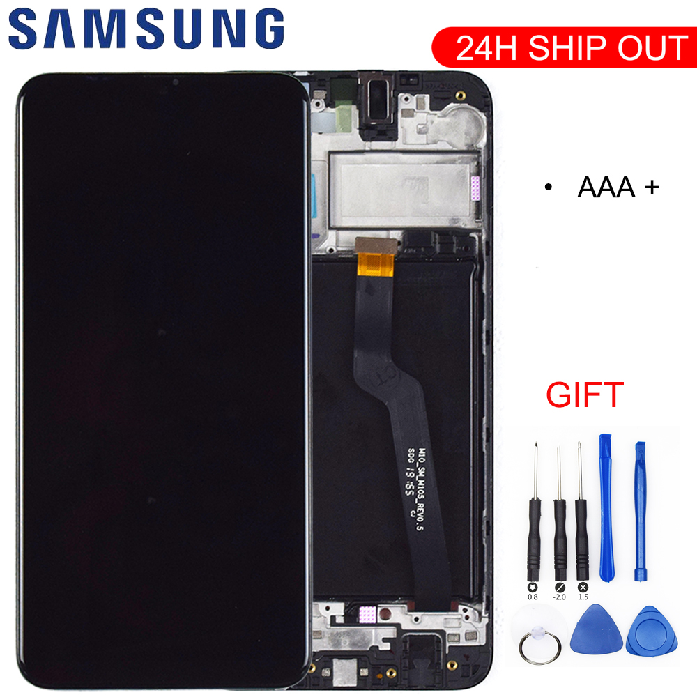 Original Quality For <font><b>Samsung</b></font> Galaxy <font><b>A10</b></font> A105 A105F SM-A105F <font><b>LCD</b></font> Display With Touch <font><b>Screen</b></font> Digitizer With Frame image