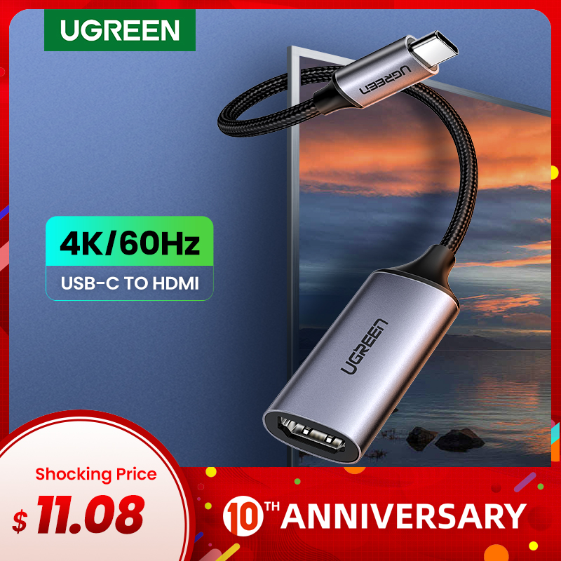 Ugreen USB C HDMI Cable Type C to HDMI Thunderbolt 3 Adapter for MacBook Samsung Galaxy S10/S9 Huawei Mate 20 P20 Pro USB C HDMI|hdmi male to female - title=