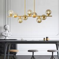 Modern Nordic hang lamp design copper LED Pendant Lights Creativity led Pendant Lamps for Living Room Bedroom Lighting Fixtures