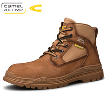 2020 new arrivals high quality Men's Genuine leather Martins Boots brown Platform Shoes