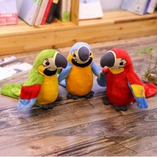 Plush-Toy Talking-Parrot Record Repeats Electroni-Bird Speaking Stuffed Wings Birthday-Gift