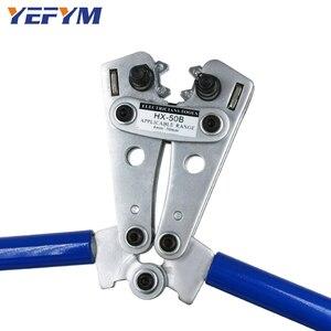 Image 4 - Alicate de crimpagem para cabo de HX 50B, ferramenta de friso ponteira de fio, terminal de catraca, alicates de crimpagem para 6 50mm2 1 10awg