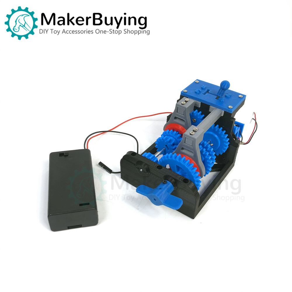 Four-speed Gearbox (without Reverse Gear) Simple Simulation Model 3D Printing Production
