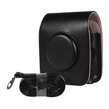 מצלמה תיק קייס עור מפוצל עבור Fujifilm INSTAX כיכר SQ20 SQ10 בציר כתף רצועת פאוץ מצלמה הגנה לשאת כיסוי
