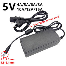 5V 5 volt universal AC to DC led Power Adapter Supply 220v to 5 V 5V 4A 5A 6A 8A 10A 12A 15A ac/dc adaptador adaptor switching
