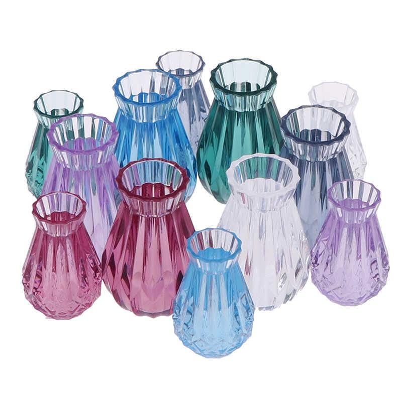 Gaya Baru 1:12 Rumah Boneka Pot Bunga Vas Keramik Teko Basin Furniture DIY Mainan Rumah Boneka Miniatur Aksesoris