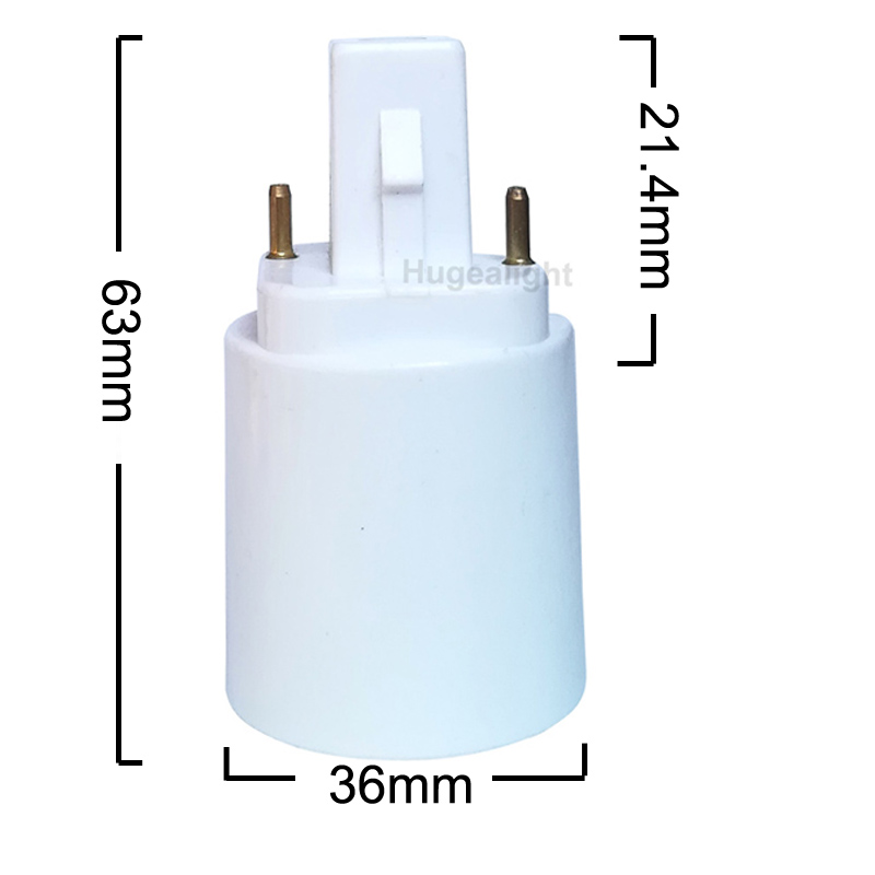 1//10PCS G24 To E27 sockel Adapter LED Light Bulb 2 PIN Lamp Adaptor Base Holder