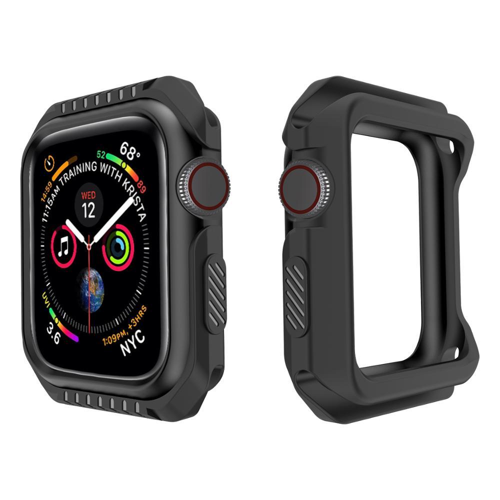 Чехол для часов Apple Watch 5 4 3 2 1 42 мм 38 мм, мягкая рамка, полноразмерный защитный бампер для Apple iWatch Series 6 SE 5 44 мм 40 мм