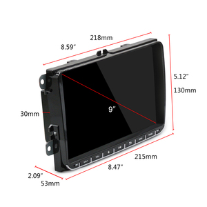 Image 2 - Podofo 9 inch car stereo 2+32GB Android 8.1 Car Multimedia player 2 Din Car radio Wifi GPS MP5 Player Mirror link For VW /SKoda