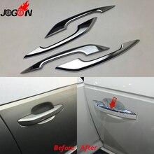 Cromo lucido Per Audi A4 S4 RS4 B9 A5 S5 RS5 2017 Q5 FY 2018 2019 Stile Auto Door Lato maniglia Molding Copertura Trim Accessori
