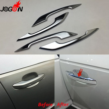 Glossy Chrome For Audi A4 S4 RS4 B9 A5 S5 RS5 2017 Q5 FY 2018 2019 Car Styling Door Side Handle Molding Cover Trim Accessories