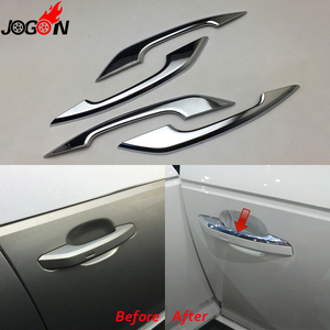 Image 1 - Glossy Chrome For Audi A4 S4 RS4 B9 A5 S5 RS5 2017 Q5 FY 2018 2019 Car Styling Door Side Handle Molding Cover Trim Accessories