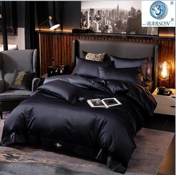 2021 Egyptian cotton Bedding sets Queen King size Embroidery Bed Duvet cover Bed sheets/fitted sheet linen set hotel bed set