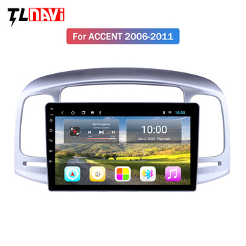 2G RAM 9 inch Android 9.1 car multimedia player for Hyundai Accent 2006 2007 2008-2011 Support Music AUX WIFI support DVR