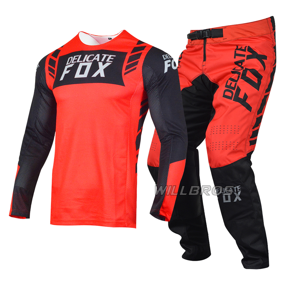 2021 zarte Fuchs Flexair Mach Anzug Für Honda Jersey Hosen Berg Fahrrad Racing Getriebe Set Motocross Motorrad Kits