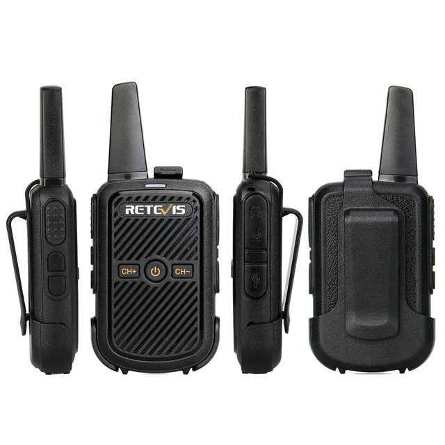 Mini Walkie Talkie Retevis RT15 Portable Two way Radio Portable Radio Communicator Walkie-Talkies 1 or 2 pcs for hotel Hunting 3
