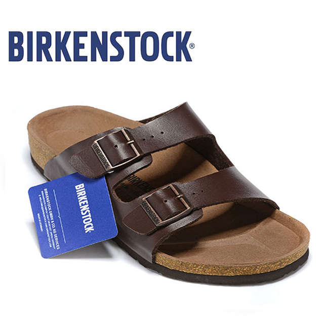 Original Birkenstock Men Summer Slippers Soft Shoes Men Leather Beach Slippers 802 Cork Sandals Brkenstock Arizona Boston