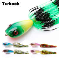 Silicone Skirt Popper Fishing Lures 4.6cm 11g Pike Wobblers For Fish Rattlin Hard Bait Artificial Fishing Tackle Lure Crankbait