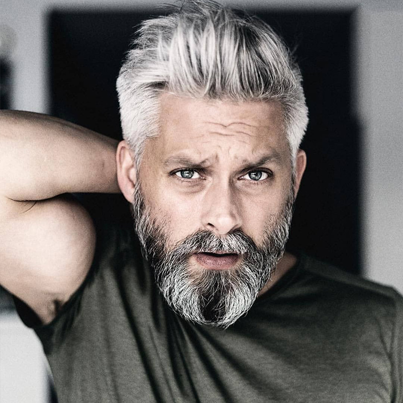 BYMC 1B Mixed Grey Human Hair Toupee For Men All PUPeruvian Remy Human Hair Replacement System Men's Toupee Full Pu Toupee