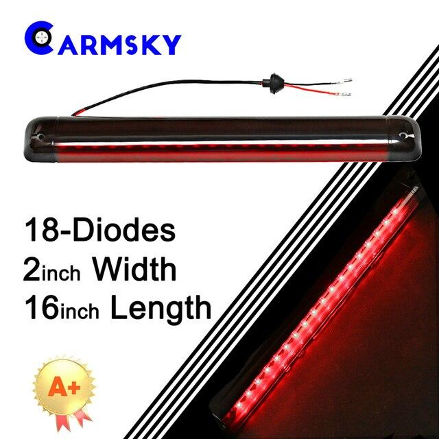 Armsky 16 אינץ ארוך 3rd שלישי בלם אור אדום & שחור שיכון אדום 18 LED אור עבור 1992 2004 שברולט S10/Suburban/טאהו/יוקון