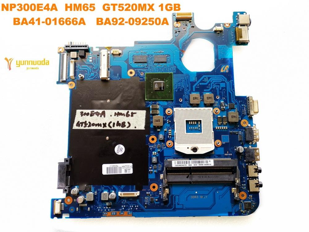 Original For Samsung NP300E4A  Laptop Motherboard  NP300E4A HM65 GT520MX 1GB BA41-01666A  BA92-09250A Tested Good Free Shipping