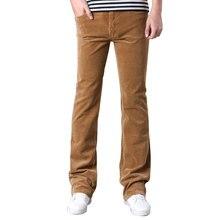 Trousers Corduroy Flared-Pants Business Elasticity Black White Casual Khaki Bootcut Slightly