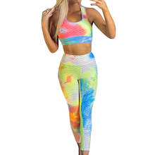 Casual sports wear outfits women's two piece suits Tie dye p