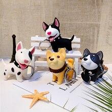 Модный милый мультяшный кулон, брелок для ключей, котенок, собака, брелок для ключей, колокольчик, автомобильная сумка, брелки, креативное ювелирное изделие, подарок