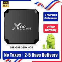 X96 Mini Iptv Box Amlogic S905W Android 9.0 Tv Box 4K 1G 8G 2G 16G 2.4G Wifi QHDTV X96mini Smart tv Set Top Box Ship from france