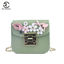 RARE CREATIVE PU Leather Mini Shoulder Bags High Quality Colorful Pearl Bag DIY Designer Purse For Kids Fashion Brand PS8006