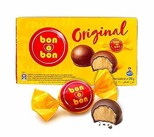 Bonbon De Cioccolato Con Cialda Croccante E Ripieno Di Crema Di Arachidi, Argentina, Box 270g - ARCOR Bon-o-bon Original -