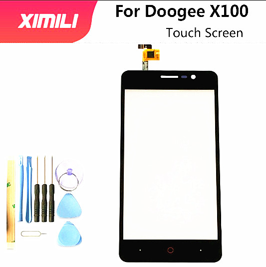 5.0 Inch For Doogee X100 Touch Screen Digitizer Panel Front Glass Lens Sensor For Doogee X 100 TouchScreen+Tools