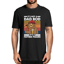 100%Cotton T-Shirt Father-Figure Classic Bod Bear Gifts Funny No It's Beer-Drinking-Dad
