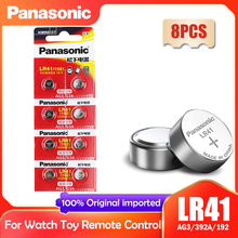 8 шт Panasonic 192 LR41 1,5 V аккумуляторы таблеточного типа SR41 AG3 G3A L736 192 392A музыкальная шкатулка для плюшевых игрушек Часы с калькулятором часы компью...