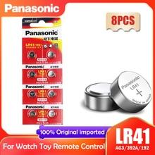 8 pçs panasonic 192 lr41 1.5v botão baterias de célula sr41 ag3 g3a l736 192 392a para brinquedos relógio calculadora computador relógio 0% hg